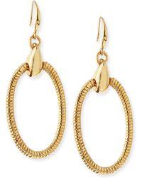 Diane von Furstenberg - Gemma Oval Drop Earrings - Lyst