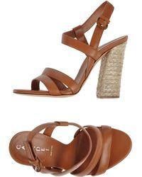Casadei Sandals brown - Lyst