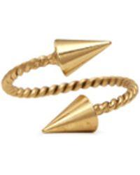 Ela Stone 'Angel' Arrow Head Ring gold - Lyst
