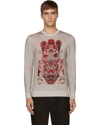 Marc Jacobs Oatmeal Light Weight Wool Bst Edition Sweater - Lyst