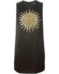 Versace Medusa Sun Embroidered Dress - Lyst