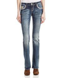 Grace In La - Fiesta Bootcut Jeans In Medium Blue - Compare At $89 - Lyst