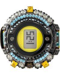 Lanvin Embellished Watch - Lyst
