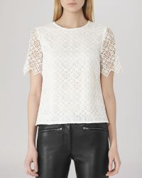 Reiss Top - Inna Lace - Lyst