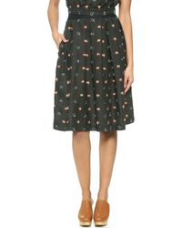 Rachel Comey Rakish Pleated Skirt - Blackcoral - Lyst