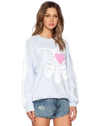 Wildfox My Beating Heart Kims Sweater - Lyst