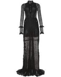 Alessandra Rich Lace Gown - Lyst