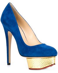 Charlotte Olympia 'Daphne' Pumps blue - Lyst