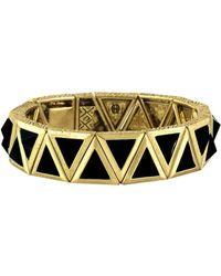 House Of Harlow 1960 Aura Tennis Bracelet gold - Lyst