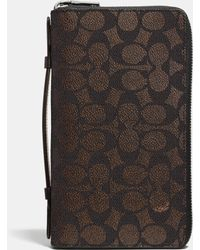 COACH | Double Zip Travel Organizer In Embossed Signature Canvas | Lyst