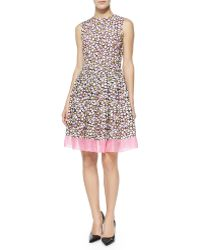 RED Valentino Daisy Embroidered Cocktail Dress pink - Lyst