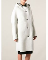 Lanvin White Oversized Coat - Lyst