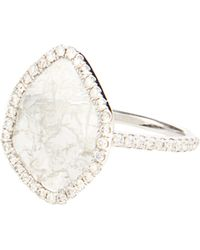 Susan Foster - Diamond Slice & White-gold Ring - Lyst