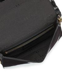 Halston Heritage Flat Leather Flap Clutch Bag - Lyst