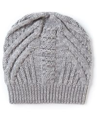 Duffy - Knitted Slouchy Beanie Hat - Lyst