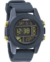 Nixon Unit Steel Blue And Yellow Watch - Lyst
