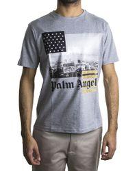 Palm Angels   Grey L.a. T-shirt   Lyst