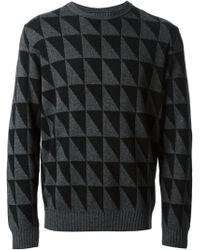 Paul Smith Geometric Pattern Sweater - Lyst