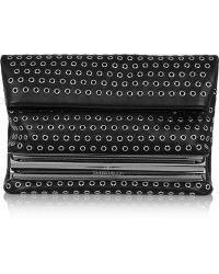 Tamara Mellon - Dazzle Eyelet-embellished Leather Clutch - Lyst