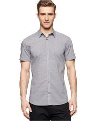 Calvin Klein Escher-Print Shirt gray - Lyst