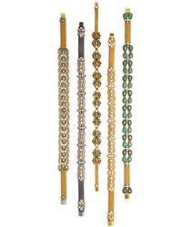 Deepa Gurnani Crystal Doublerow Infinity Belt Sm - Lyst