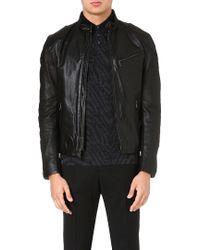 Ralph Lauren Black Label Café Leather Biker Jacket - For Men - Lyst
