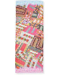 Tolani Nature Printed Silk Scarf - Lyst