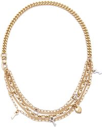Marc By Marc Jacobs Looped Multi Chain Necklace Oro - Lyst