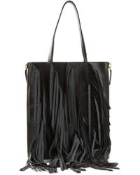 Marni Fringed Leather Tote - Lyst