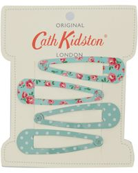 Cath Kidston - Turquoise Little Rose Hair Clips - Lyst