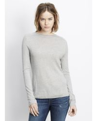 Vince | Silk Cashmere Rolled Seam Funnel Neck Sweater | Lyst
