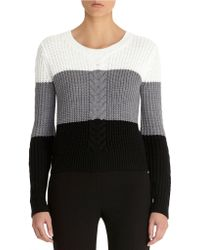 Anne Klein Color Block Crew Neck Pullover gray - Lyst