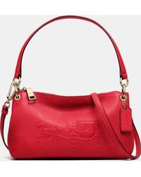 Coach Embossed Horse And Carriage Charley Crossbody In Pebbled Leather - Lyst