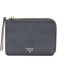 Fossil - Sydney Zip Coin Leather Purse - Lyst