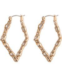 Alexis Bittar Crystal Mosaic Small Hoop Earring - Lyst
