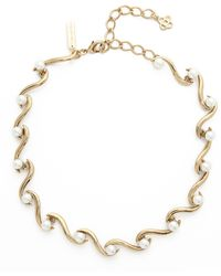 Oscar de la Renta - Sea Swirl Imitation Pearl Necklace - Lyst