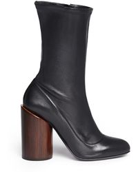 Givenchy | Column Heel Leather Boots | Lyst