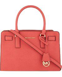 MICHAEL Michael Kors Dillon Medium Saffiano Leather Satchel Bag - Lyst