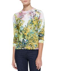 Ted Baker Damila Pretty Trees Print Sweater Dusky Pink Multi 1 - Lyst