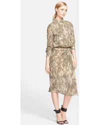 Jason Wu Belted Print Silk Chiffon Shirt Dress - Lyst