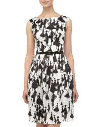 Muse Ladyprint Fit and flare Dress - Lyst