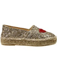 Chiara Ferragni Gold Wedge Woman - Lyst