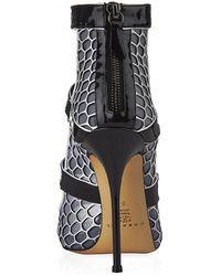 Casadei Graphic Snakeskin Sandal - Lyst