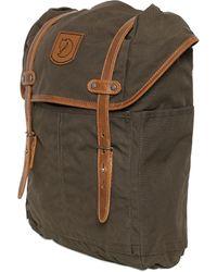 Fjallraven Medium No. 21 Canvas & Leather Backpack - Lyst