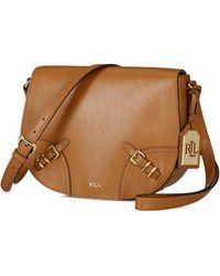 Lauren by Ralph Lauren Leather Saddle Bag - Lyst