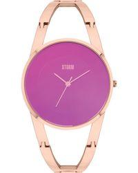 Storm - Ladies Rose Gold 'odesa' Bracelet Watch - Lyst
