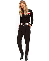 3efefcafef8f Wallis Black Pleat Trouser in Black - Lyst