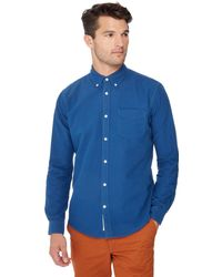 Racing Green - Bright Blue Tailored Fit Oxford Shirt - Lyst