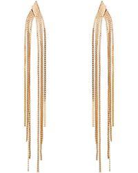 Phase Eight - Gold Bessie Tassel Earrings - Lyst