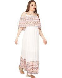 Izabel London - White Overlayed Top Maxi Dress - Lyst